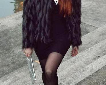 silvester outfit: faux fur