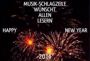 Musik-Schlagzeile wünscht ein rockiges, poppiges, souliges 2014
