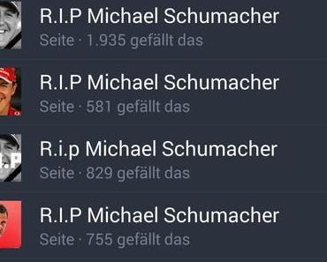 Michael Schumacher und die Leichenfledderer – Facebook mach was! *Update 3* | Mobilegeeks.de | Allgemein