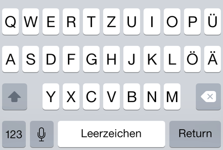 iOS 7.1 Beta 3 Tastatur