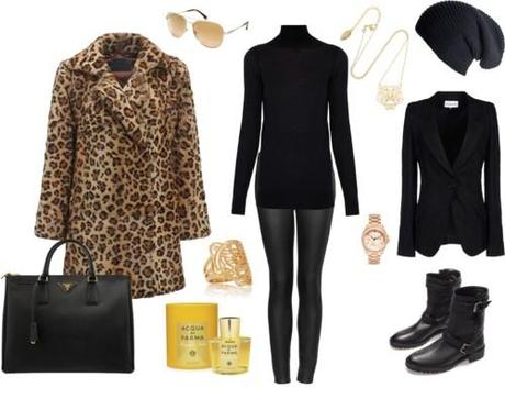 Leopard coat and pure black