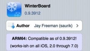 Winterboard für iOS 7 Jailbreak Geräte verfügbar