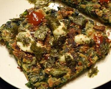 Okonomiyaki mit Schwarzkohl