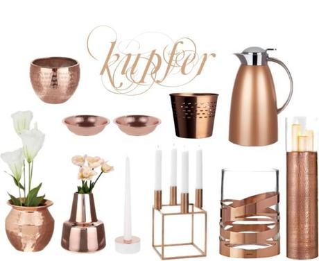 Wohnaccessoires silber  Wohnaccessoires in Kupfer, Silber und Gold