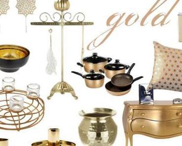 Wohnaccessoires in Kupfer, Silber und Gold