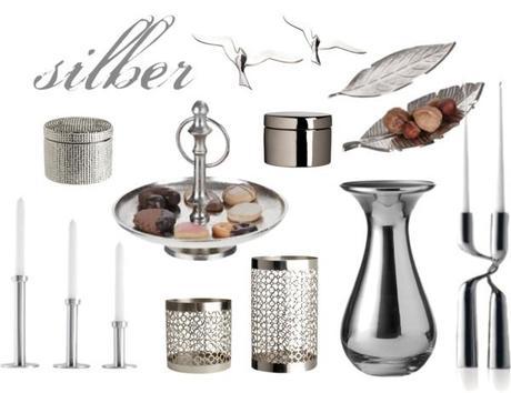 Wohnaccessoires Silber
