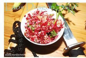 Laos Blumenkohl-Brokkoli-Salat