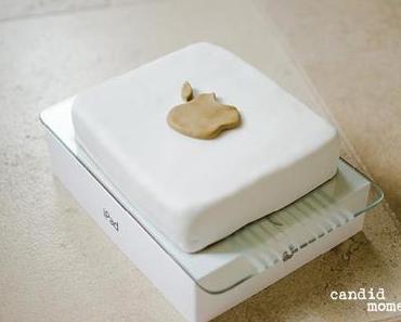Ein iPad zum Vernaschen. Oder: Mamas Geburtstags-iPad-Bananenschnitten-Torte.