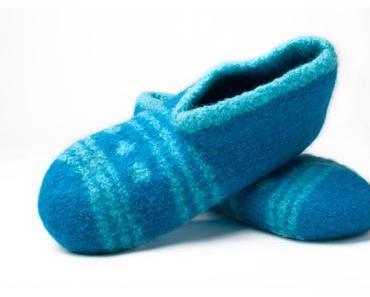 Schuhe und Socken stricken und filzen