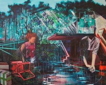 In Lorella Palenis Gemälden steht die Welt Kopf