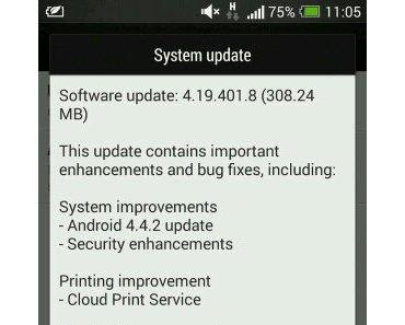 Ungebrandete EU HTC One bekommen Android 4.4