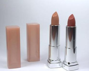REVIEW: Maybelline STRIPPED NUDES Color Sensational Lipsticks...Swatches und Tragebilder