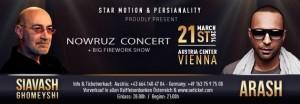Siavash Ghomayshi und Arash bei Nowrooz-Konzert in Wien