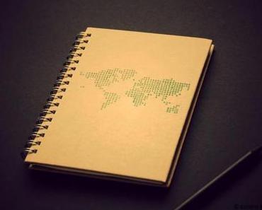 Weltkarten-Notizbuch