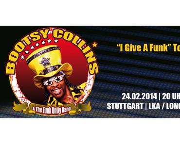 """BOOTSY COLLINS """"I Give A Funk"""" Tour – EXKLUSIVE DEUTSCHLANDSHOW in Stuttgart"""
