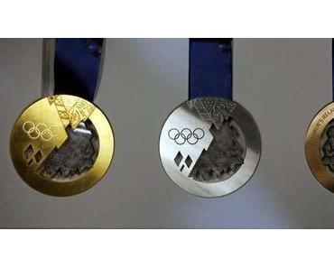 Design der Sotschi-Medaille