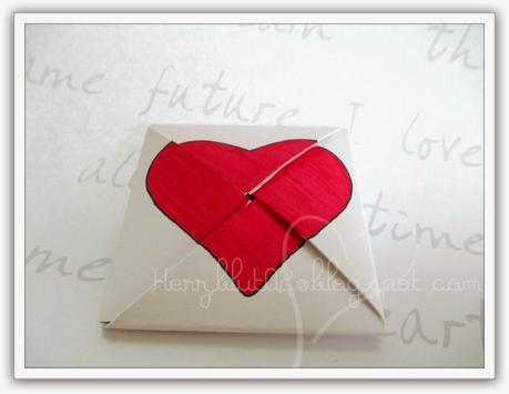 Origami Karte Zum Valentinstag