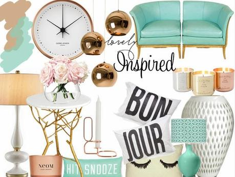 Inspiration: Living Room - Copper and Mint