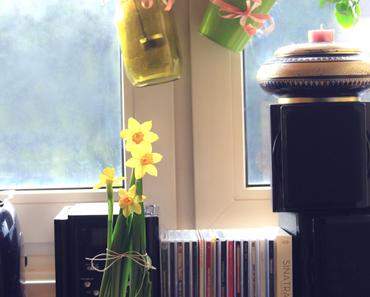 Neulich in der Küche...lila Laune und ein simples Kerzenhalter-DIY.