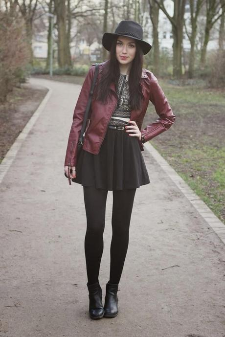 OOTD: Red Leather Jacket + Gewinnspiel