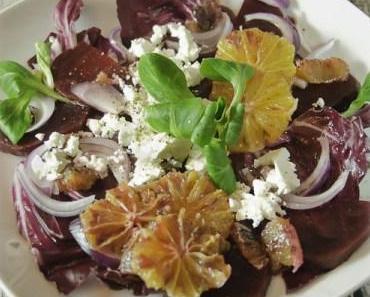 Salat in Rot – Blutorange, Radiccio, Rote Bete…