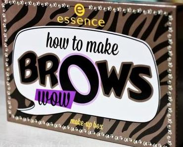 essence how to make Brows Wow Palette, Review, Fotos, Swatches, Tragebilder