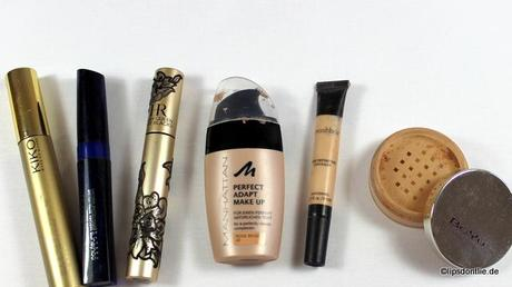 Helena Rubinstein - Lash Queen Sexy Blacks Mascara KIKO Luxurious Lashes Mascara  · couleurs nature Mascara  · Manhattan Perfect Adapt Make Up  · Smashbox High Definition Concealer  · BeYu Mineral Foundation Powder