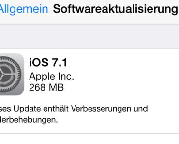 Apple veröffentlicht iOS 7.1 und Apple TV Update 6.1