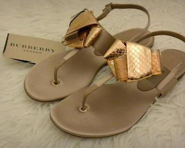 New In: Burberry Flat Sandals