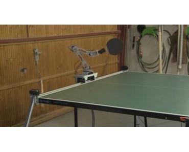 Tischtennis Roboter eines deutschen Ingenieurs