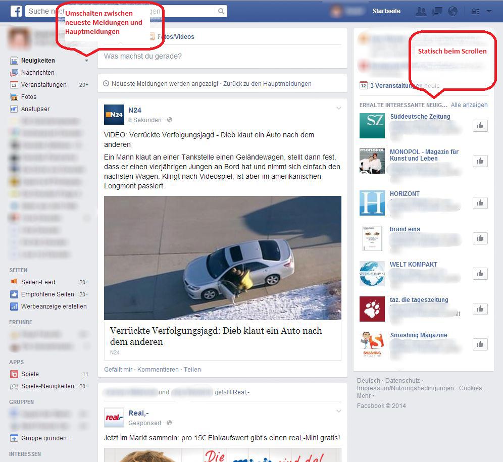 Facebook Alte Version