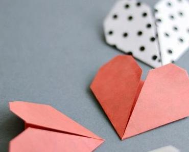 Nachmachtipp: Origami Herzen