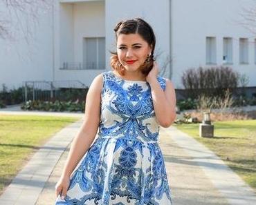 OUTFIT | The blau-weiße Kleid