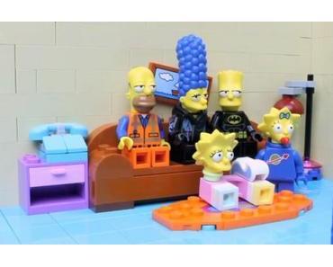 Simpsons Couch Gag mit LEGO-Steinen nachgestellt