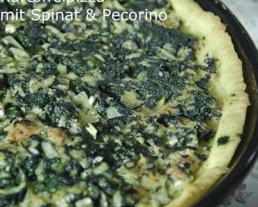 Frühling in der Küche: Kartoffelpizza mit Spinat und Pecorino