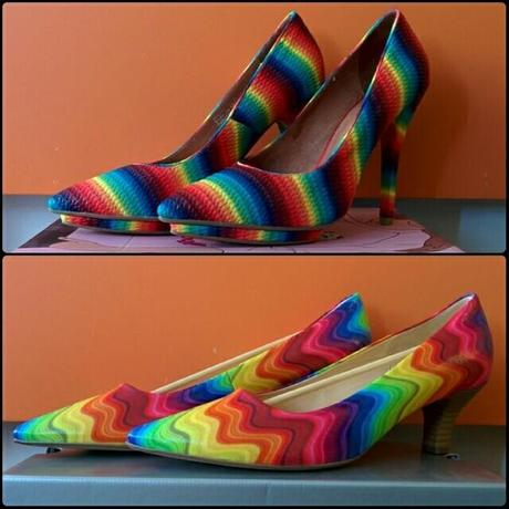Jeffrey Campbell Bullet NS in Rainbow | Gabor Pumps Multicolor