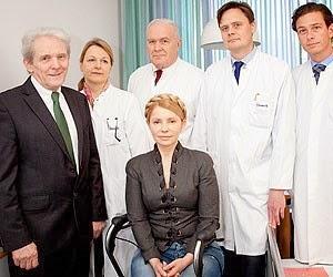 Die frühere Ministerpräsidentin Julia Timoschenko zur Behandlung in der Berliner Charité