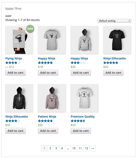 WordPress Shop WooCommerce