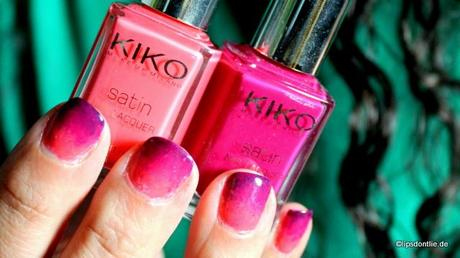 KIKO Satin Nail Lacquer 444 Rose Coral, 446 Dark Cherry, 447 Carmine Red