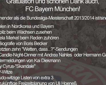 Klartext: So macht die Bundesliga keinen Spaß mehr - Spannungskiller FC Bayern München sieben Spieltage vor Saisonende bereits zum 24. Mal Deutscher Meister.