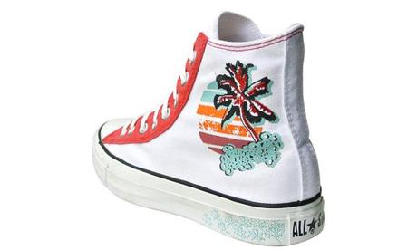 Converse Schuhe All Star Chucks 104874 Miami Beach Palmen Stickerei