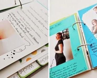 memory books in aktion! // schwangerschaftserinnerungsbuch