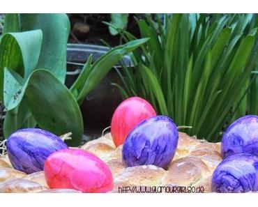 Hefe-Osterkranz mit Mandeln