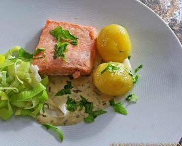 Klassiker: Saumon à l' oseille oder Lachs mit Sauerampfer