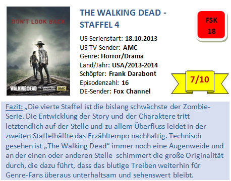 The Walking Dead S4 - Bewertung