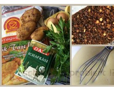 REZEPT: Tepsi Böregi – Börek gefüllt mit Schafskäse, Kartoffeln und Petersilie