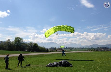 Geschafft! Fallschirmspringen in Gmunden