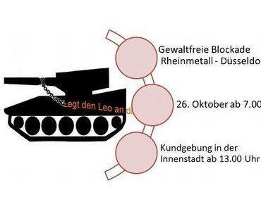 "Aktion: ""Rheinmetall entrüsten!"""