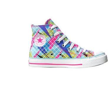#Converse Chuck Taylor All Star Neon Pink 107124 Kariert