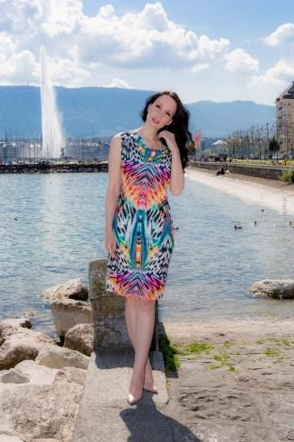 Ana Alcazar Summer Minidress in Geneva